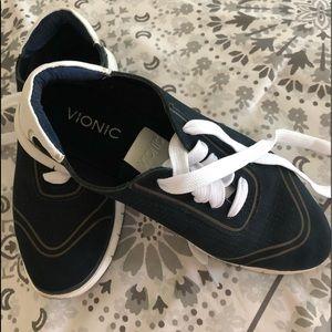 Vionic navy sneakers.   Like new.